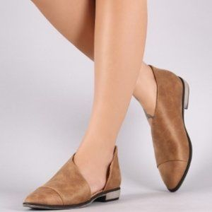 'Lullaby' Taupe Suede Flats